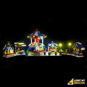 LIGHTING KIT FOR WINTER VILLAGE MARKET 10235 (BUILDING SET NOT INCLUDED) BY LIGHT MY BRICKS