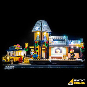 LIGHTING KIT FOR WINTER VILLAGE STATION 10259 (BUILDING SET NOT INCLUDED) BY LIGHT MY BRICKS