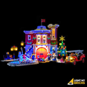 LIGHTING KIT FOR WINTER VILLAGE FIRE STATION 10263 (BUILDING SET NOT INCLUDED) BY LIGHT MY BRICKS