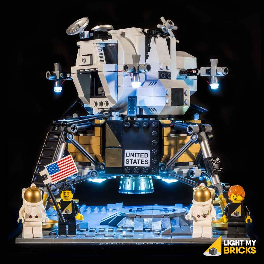 Lighting Kit for NASA Apollo 11 Lunar Lander 10266 (BUILDING SET NOT INCLUDED) by Light my Bricks