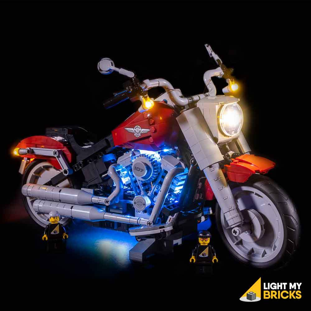 LIGHTING KIT FOR HARLEY-DAVIDSON FATBOY 10269 (BUILDING SET NOT INCLUDED) BY LIGHT MY BRICKS