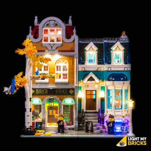 LIGHTING KIT FOR BOOK SHOP 10270 (BUILDING SET NOT INCLUDED) BY LIGHT MY BRICKS