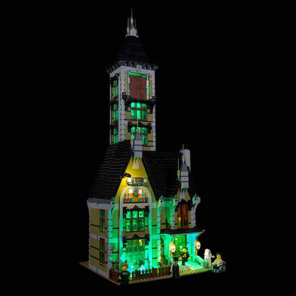 Lighting Kit for Haunted House 10273 (Building Set Not Included) by Light My Bricks