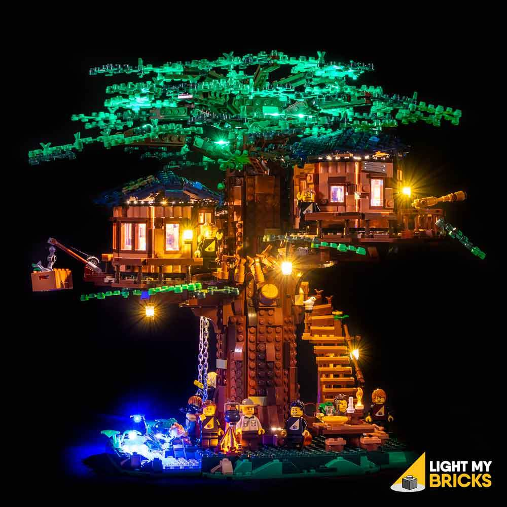 Lighting Kit for Tree House 21318 (BUILDING SET NOT INCLUDED) by Light my Bricks