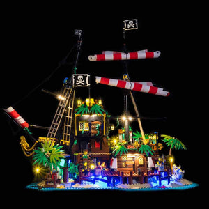 Lighting Kit for Pirates of Barracuda Bay 21322 (Building Set Not Included) by Light My Bricks