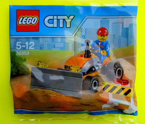 LEGO CITY POLYBAG TRACTOR 30353 CONSTRUCTION BUILDING