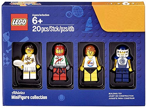 LEGO Bricktober Athletes Minifigure Set (Tennis Player, Race Car Driver, Surfer, and Hockey Player) 5004573