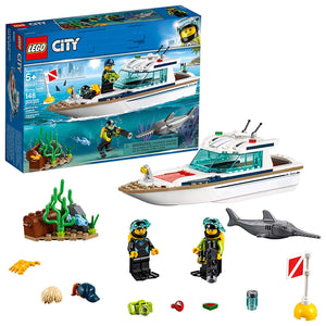 LEGO City Great Vehicles Diving Yacht 60221 Building Kit