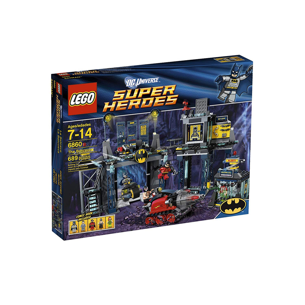 LEGO 6860 Super Heroes The Bat Cave New/Sealed Free US Shipping Set Retired