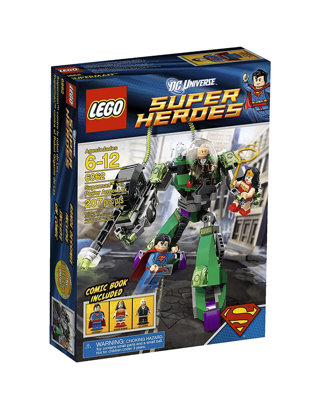 LEGO Super Heroes Superman Vs Power Armor Lex 6862 (Discontinued by manufacturer)
