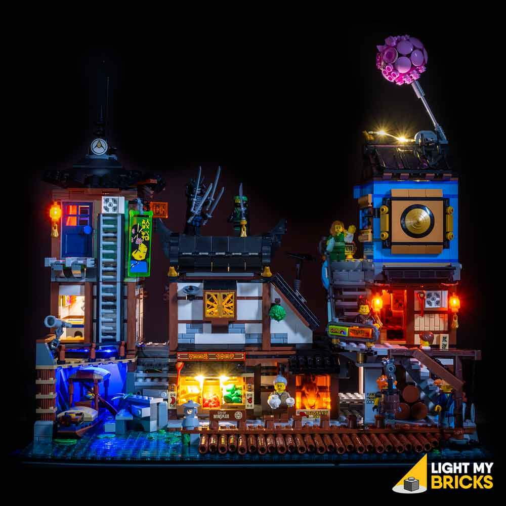 Ninjago City Docks Lighting Kit (BUILDING SET NOT INCLUDED) 70657 BY Light My Bricks