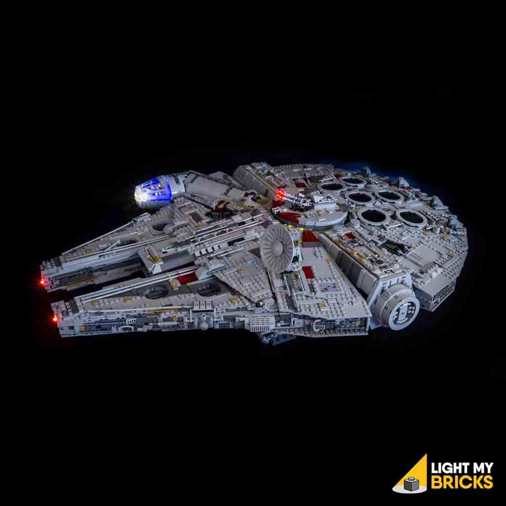 STAR WARS UCS MILLENNIUM FALCON LIGHTING KIT 75192 (LEGO SET NOT INCLUDED) BY LIGHT MY BRICKS
