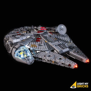 LIGHTING KIT FOR STAR WARS MILLENNIUM FALCON 75257 (BUILDING SET NOT INCLUDED) BY LIGHT MY BRICKS