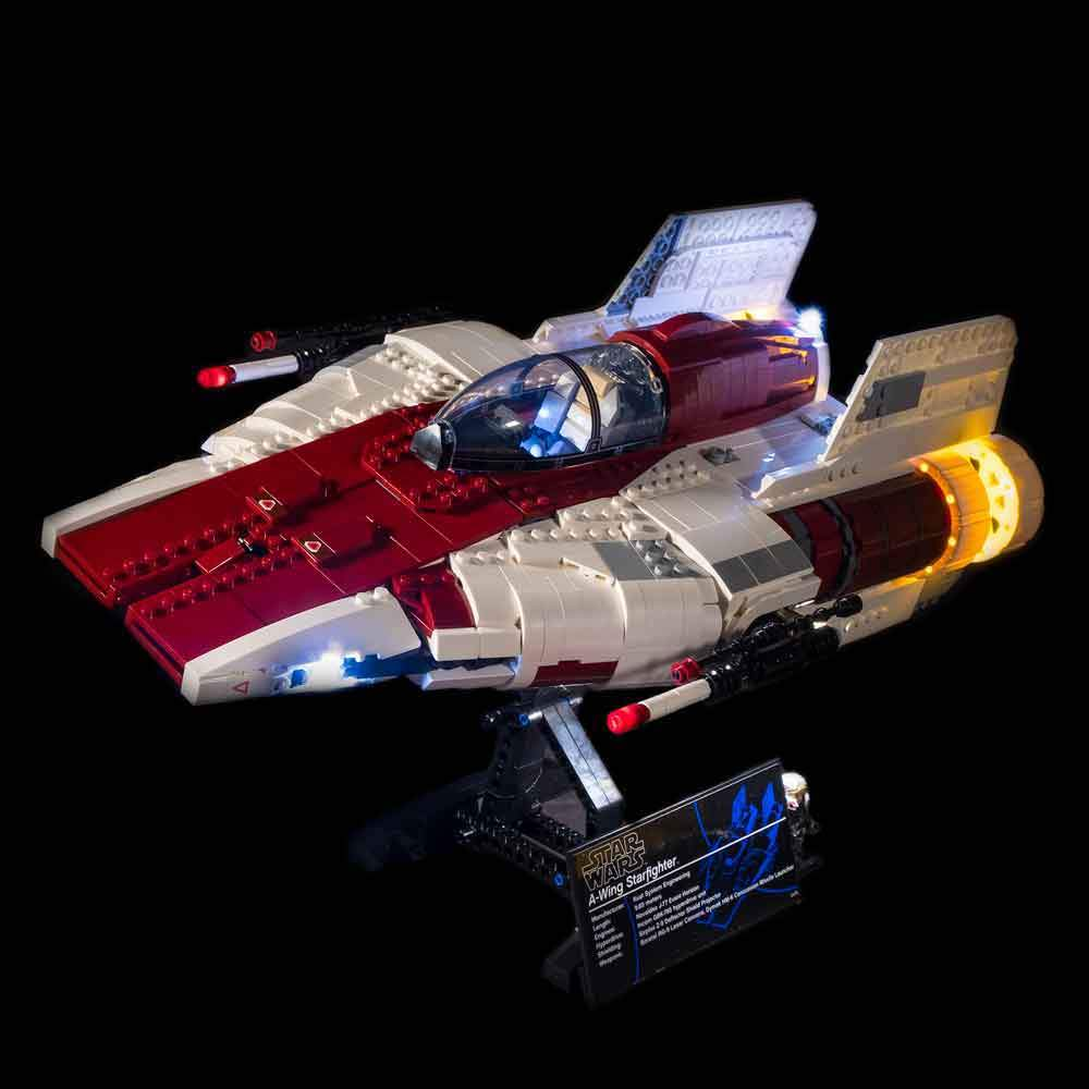 Lighting Kit for Star Wars A-Wing Starfighter 75275 (Building Set Not Included) by Light My Bricks