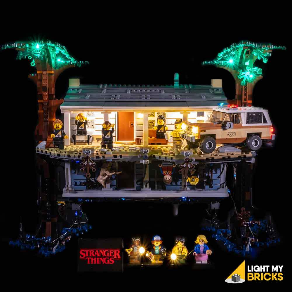 LIGHTING KIT FOR STRANGER THINGS THE UPSIDE DOWN 75810 (BUILDING SET NOT INCLUDED) BY LIGHT MY BRICKS