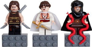 LEGO Prince of Persia Mini Figure Magnet Set - Dastan, Tamina, Hassanssin Leader
