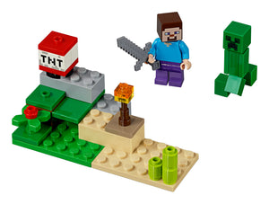 LEGO POLYBAG MINECRAFT STEVE AND CREEPER TNT 30393