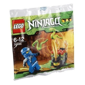 LEGO NINJAGO POLYBAG WITH MINIFIGURE JAY JUMPING SNAKES 30085 BUILDING TOY