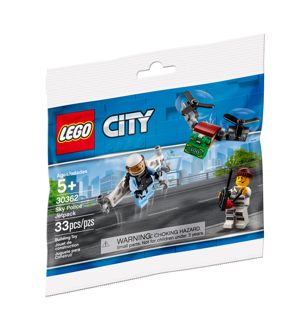 Lego 30362 Town City Sky Police Jetpack Polybag Set