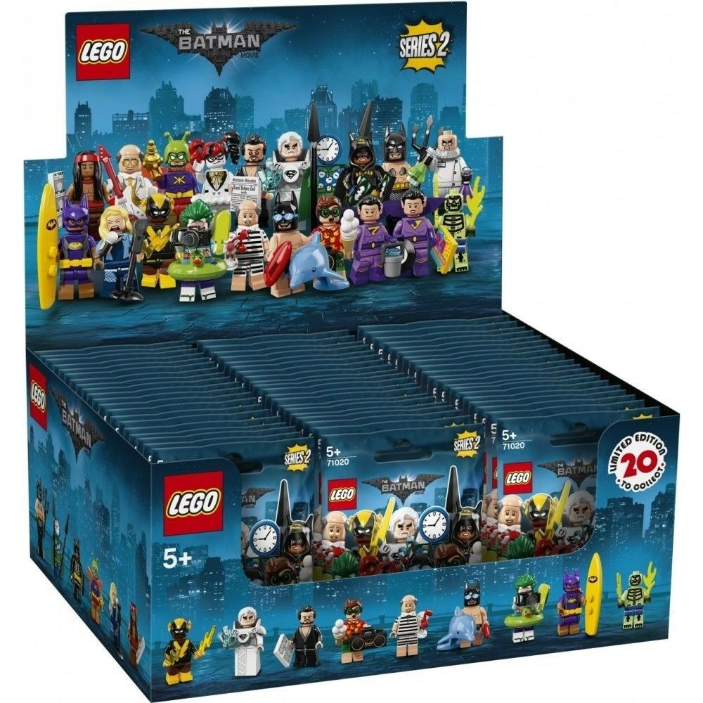 LEGO Batman Movie Series 2 CASE OF 60 MINIFIGURES SEALED IN BROWN BOX 71020
