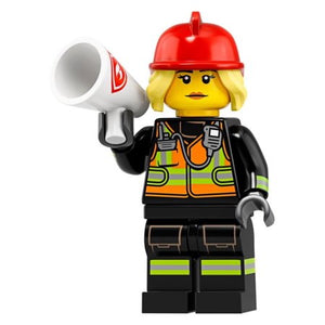 LEGO SERIES 19 WOMAN FIRE FIGHTER MINIFIGURE