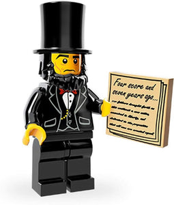 Abraham Lincoln, The LEGO Movie (Complete Set with Stand and Accessories)