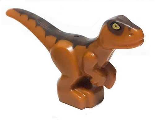 LEGO JURASSIC WORLD FALLEN KINGDOM MINIFIGURE BABY RAPTOR BROWN DINO