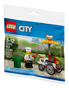 LEGO City 30356 Hot Dog Cart and Vendor (43 pc bagged set)