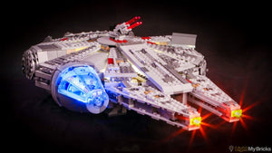 Star Wars Millennium Falcon Lighting Kit for Lego 75105 Set (LEGO set Not Included) by Light My Bricks