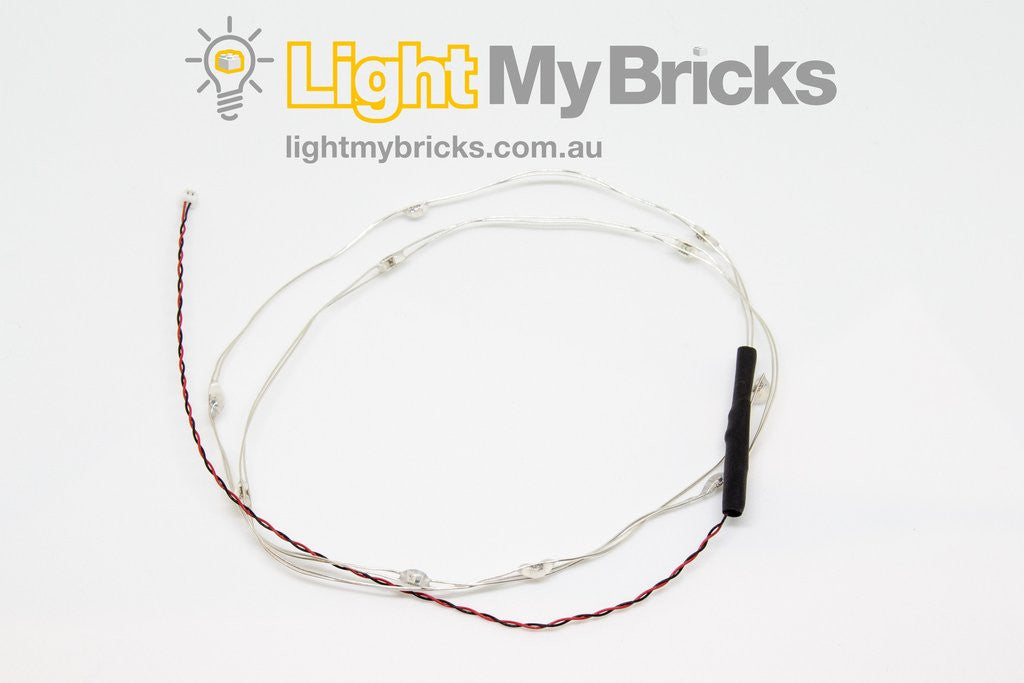 10-LIGHT MULTI-COLOUR CHANGING LED LIGHT STRING BY LIGHT MY BRICKS