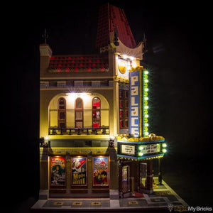 Palace Cinema Lighting Kit for LEGO 10232 (LEGO set not included) by Light My Bricks