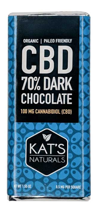 Kat's Naturals - 70% Dark Chocolate Bar