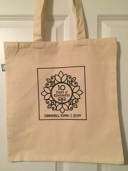 10 Days of Kindness tote bag