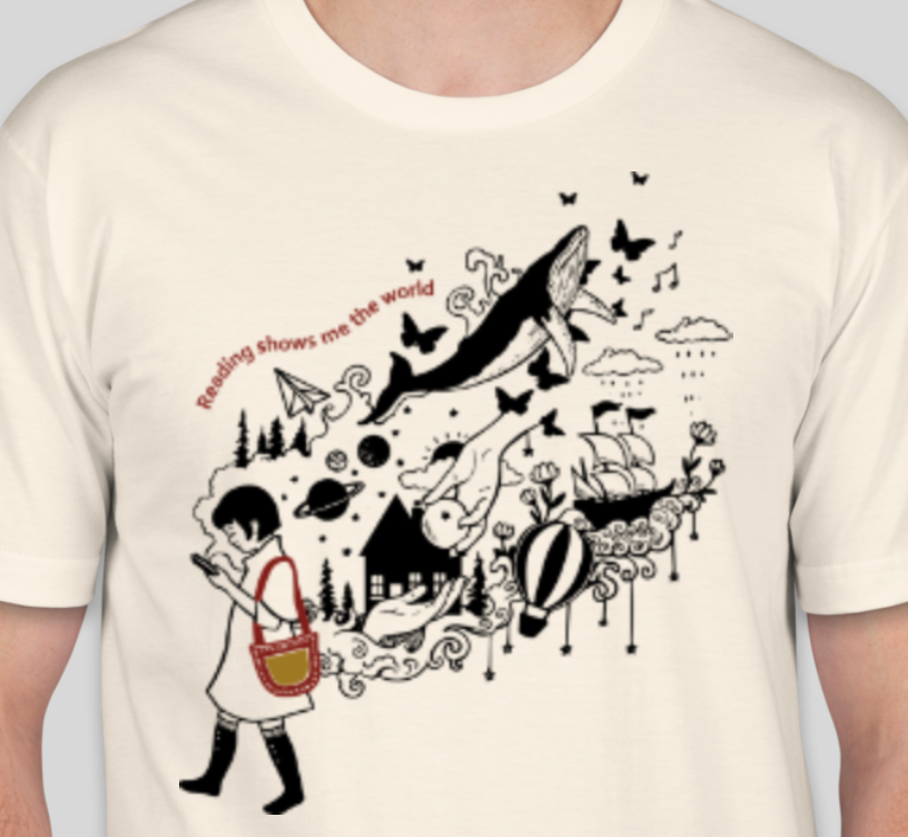 Reading Shows Me the World T-shirt
