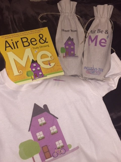 Air Be & Me T-shirt, Wine Bag and Book