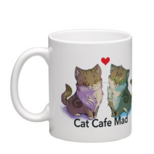 Cat Duo Mug from Cat Cafe Mad