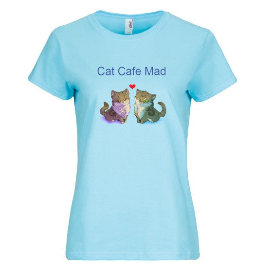 Cat Cafe Mad's Cat Duo: Anvil Ladies' T-Shirt