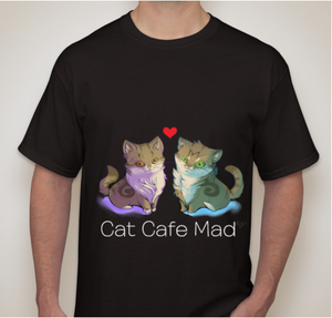 Kickstarters Cat Duo Black Tshirt