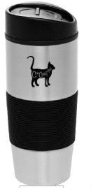 Cat Cafe Mad Logo Travel Mug (In Blue)