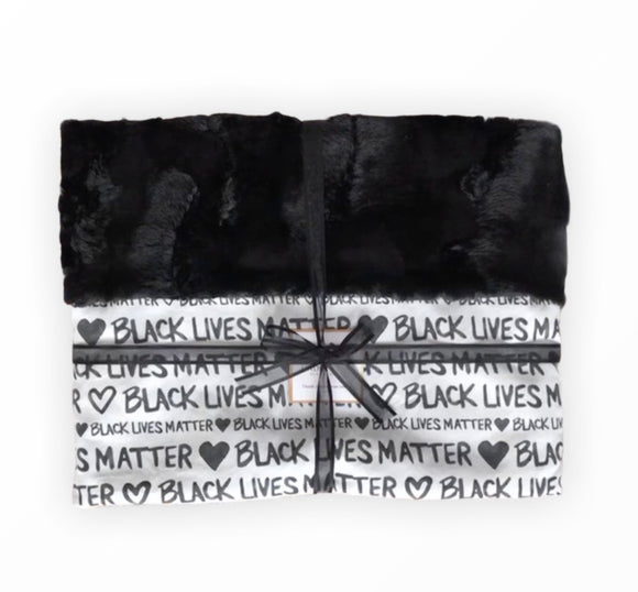 Black Lives Matter Blanket-White Minky