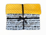 Black Lives Matter Blanket-White Cotton