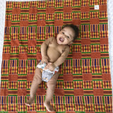 Ade African Print Baby Blanket