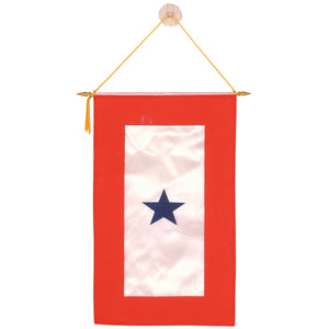 "BANNER 8.5"" X 14"" - DBLE SIDED SATIN BLUE STAR"