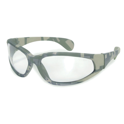 MILITARY SUNGLASSES - BLACK CLEAR LENS