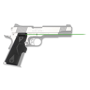 Crimson Trace - Lasergrips Gun Fit: 1911 Full-Size Laser Color: Green Grip: Black Polymer CTLG-401G