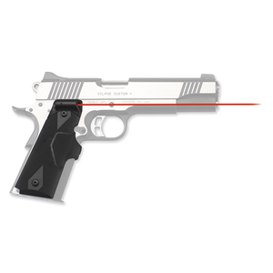 Crimson Trace - Lasergrips Gun Fit: 1911 Full-Size Laser Color: Red Grip: Black Polymer CTLG-401