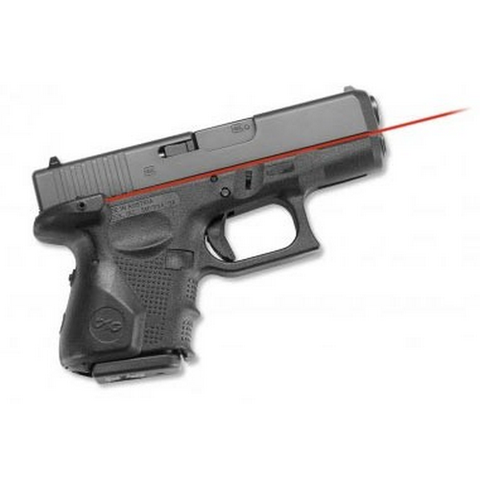 Crimson Trace - Lasergrips Gun Fit: Glock GEN4 26, 27, 33 Laser Color: Red Grip: Black Polymer CTLG-852