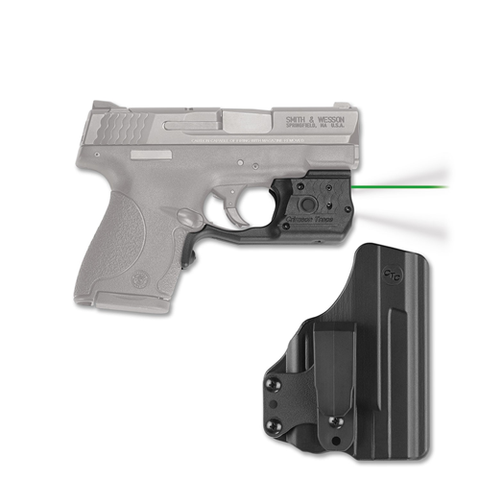 Crimson Trace - Laserguard® Pro  Gun Fit: Smith & Wesson M&P 9/40 Shield Laser Color: Green Option: Blade-Tech Holster CTLL-801G-HBT