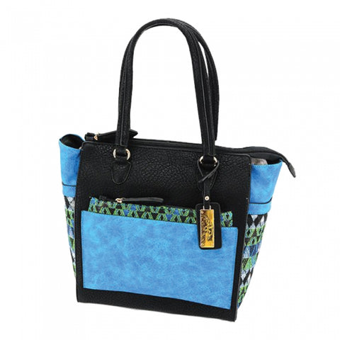 Aztec Concealed Carry Purse: Blue