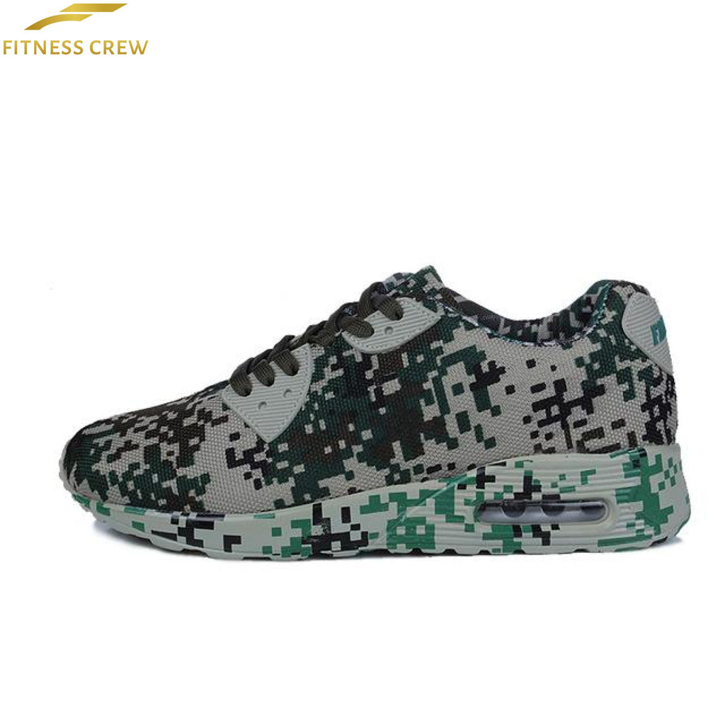 Camouflage Sports Shoes Green / 4.5